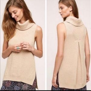 Anthropologie Angel of the North grey knit sweater